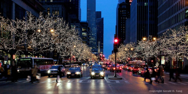 Michigan Avenue at Night  700003